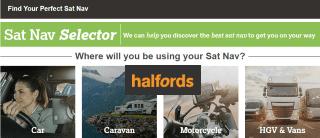 Halfords Sat Nav Selector